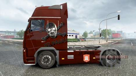 Haut den FC St. Pauli auf einem Volvo truck für Euro Truck Simulator 2