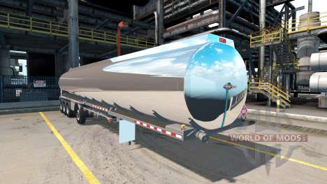 Die Chrom-verchromt tank-Sattelzug Heil [4 Achse für American Truck Simulator