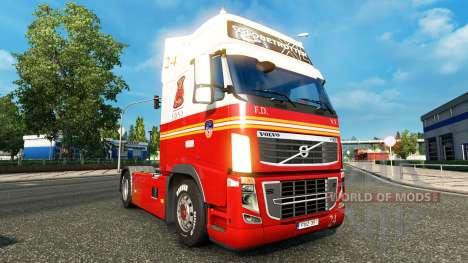 24 FDNY de la peau pour Volvo camion pour Euro Truck Simulator 2