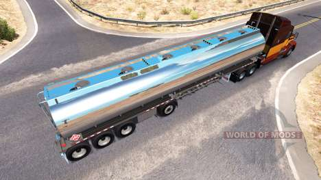 Le chromée réservoir semi-remorque Heil [4 essie pour American Truck Simulator