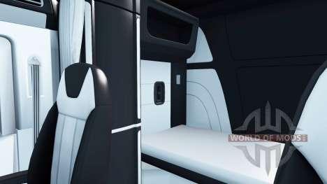 Schwarz und weiß Innenraum in einen Peterbilt 57 für American Truck Simulator