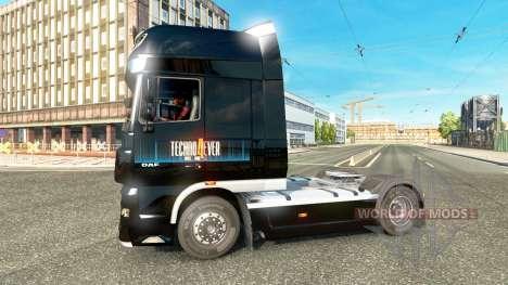 Techno4ever skin für DAF-LKW für Euro Truck Simulator 2