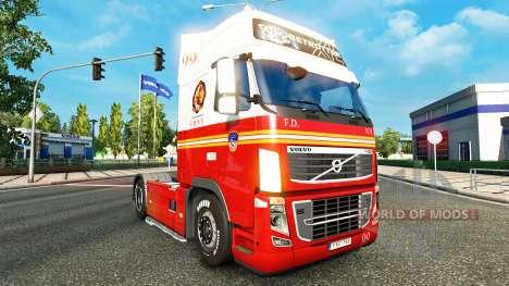 99 FDNY de la peau pour Volvo camion pour Euro Truck Simulator 2
