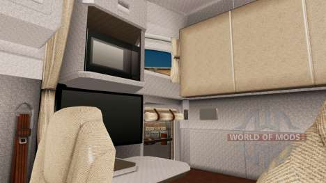 Helles Interieur im Kenworth T680 für American Truck Simulator