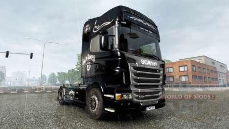Der Jack Daniels Birthday skin für Scania-LKW für Euro Truck Simulator 2
