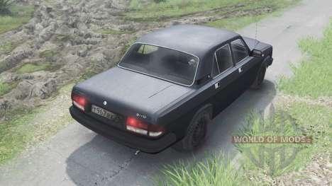 GAZ-3110 Wolga [schwarz][03.03.16] für Spin Tires