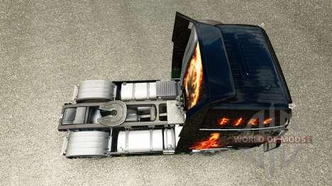 Feuer skin für den Volvo truck für Euro Truck Simulator 2