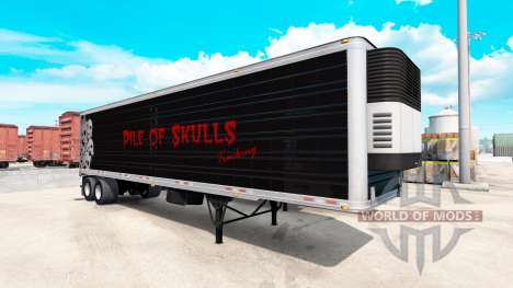 Kühl-Sattelauflieger mit Pile of Skulls für American Truck Simulator