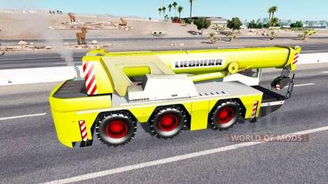 Grue Mobile Liebherr dans le trafic pour American Truck Simulator