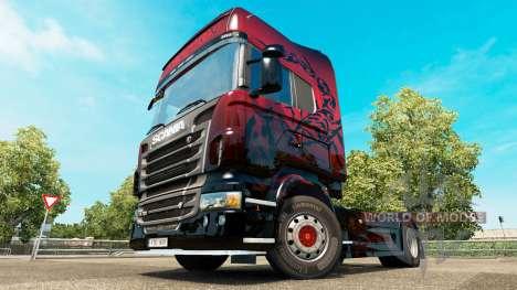 Red Scorpion peau pour Scania camion pour Euro Truck Simulator 2