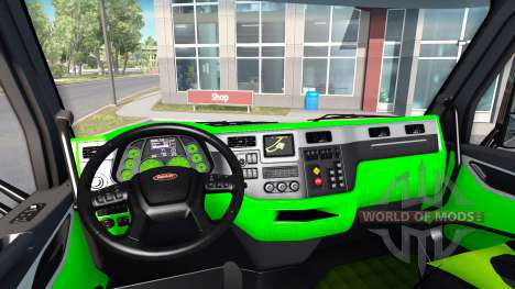 Neon-grün-Farbe-Interieur-Peterbilt 579 für American Truck Simulator