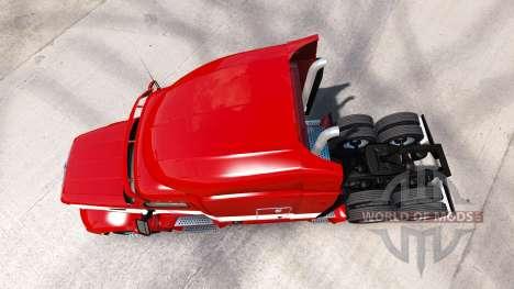 Rouge-blanc de la peau pour le camion Peterbilt pour American Truck Simulator