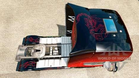 Red Scorpion-skin für den Scania truck für Euro Truck Simulator 2