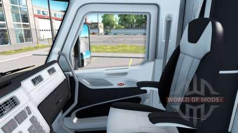Noir et blanc à l'intérieur dans un Peterbilt 57 pour American Truck Simulator