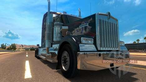 Kenworth W900 Jennifer Lopez Paint Skin pour American Truck Simulator