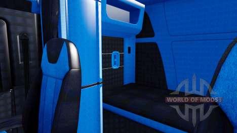 De noir et de bleu à l'intérieur dans un Peterbi pour American Truck Simulator
