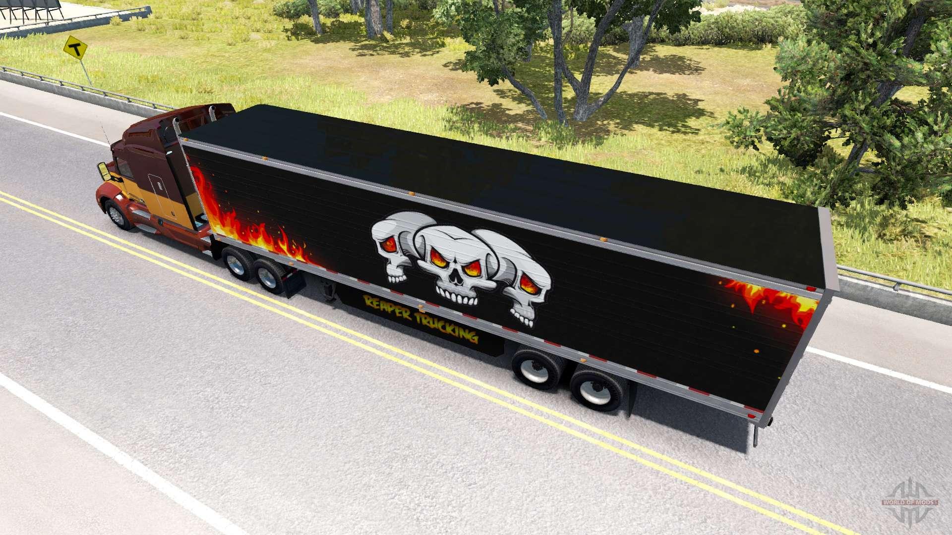 frigorifique semi remorque de camionnage reaper pour american truck simulator. Black Bedroom Furniture Sets. Home Design Ideas
