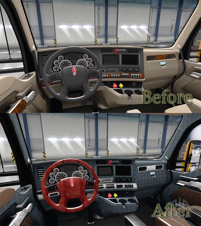 Neue Farben Innen Kenworth T680 Fur American Truck Simulator