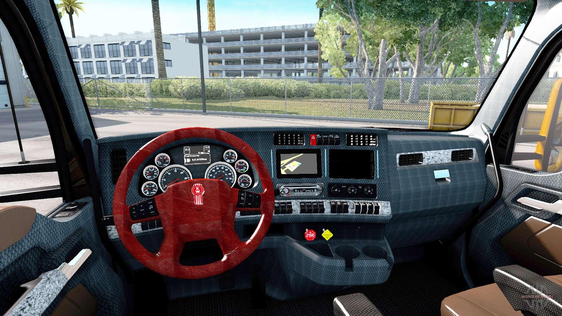 De nouvelles couleurs de l 39 int rieur kenworth t680 pour for Camion americain interieur cabine