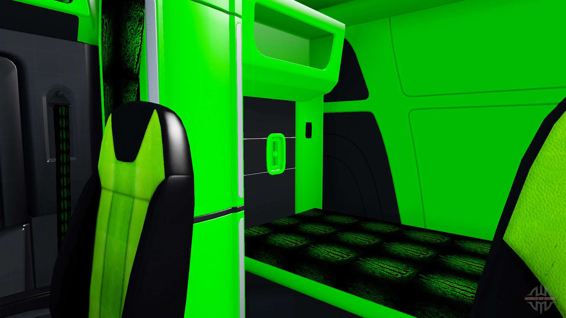 n on vert couleur de l 39 int rieur peterbilt 579 pour american truck simulator. Black Bedroom Furniture Sets. Home Design Ideas
