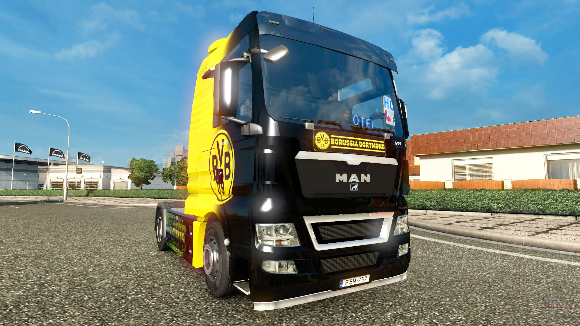 bvb skin f r man lkw f r euro truck simulator 2. Black Bedroom Furniture Sets. Home Design Ideas
