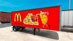 Skins amerikanischen fast-food-Anhängern