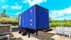 Der Sattelauflieger container