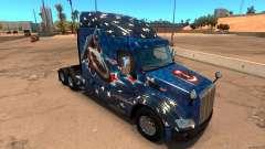 Captain America-skin für den truck Peterbilt 579