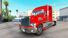 La peau sur la Budweiser tracteur Freightliner C