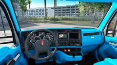 Bleu Kenworth T680 intérieur