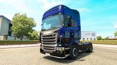 Bleu Scorpion peau pour Scania camion