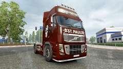 Haut den FC St. Pauli auf einem Volvo truck