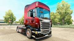 Red Scorpion peau pour Scania camion