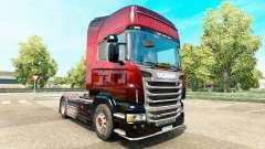 Red Scorpion-skin für den Scania truck