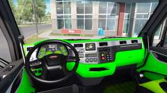 Néon vert, couleur de l'intérieur Peterbilt 579
