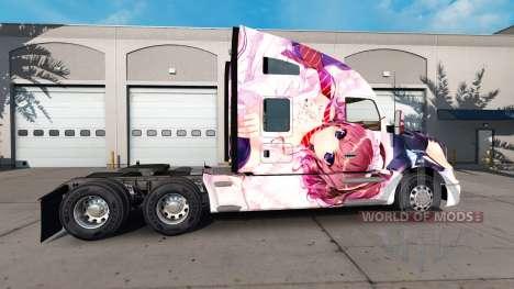 Haut Hanamiya Nagisa auf einem Kenworth-Zugmasch für American Truck Simulator
