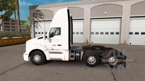 FedEx peau pour le tracteur Kenworth pour American Truck Simulator