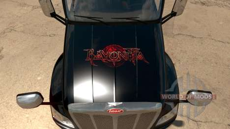 Peterbilt 579 Bayonetta skin pour American Truck Simulator