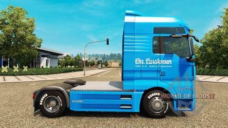 Carstensen de la peau pour l'HOMME de camion pour Euro Truck Simulator 2