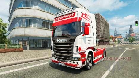 Hollande Style de la peau pour Scania camion pour Euro Truck Simulator 2