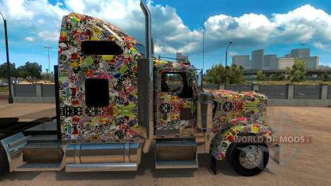 Autocollant Bombe скин для Kenworth W900 pour American Truck Simulator
