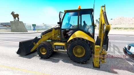 Backhoe loader im Verkehr für American Truck Simulator