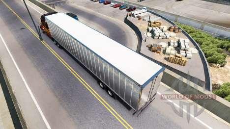 La peau Sale de Boue sur la remorque pour American Truck Simulator