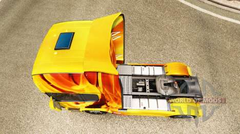 Feuer skin für den Scania truck für Euro Truck Simulator 2