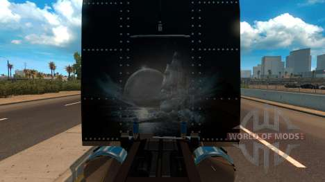 T-D-S Peterbilt 389 Racing Skin Mod pour American Truck Simulator
