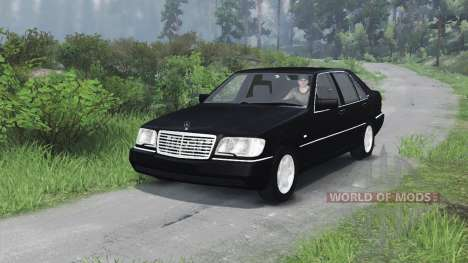 Mercedes-Benz S600 (W140)[03.03.16] pour Spin Tires
