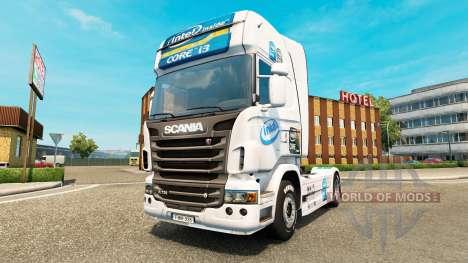 Intel-skin für den Scania truck für Euro Truck Simulator 2
