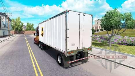 Peaux UPS et FedEx pour les remorques pour American Truck Simulator