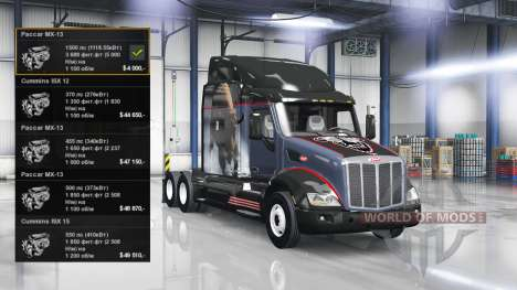 Moteur 1500 HP pour American Truck Simulator