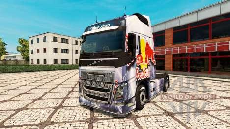 RedBull de la peau pour Volvo camion pour Euro Truck Simulator 2